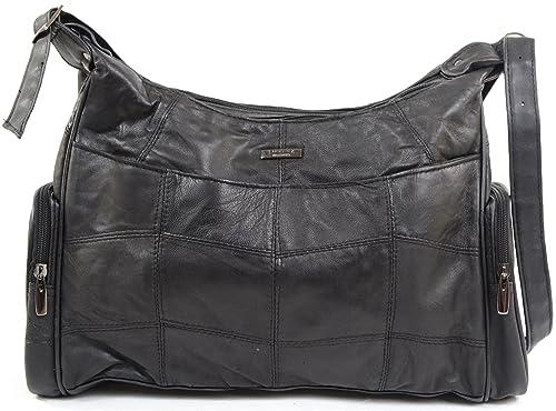 f8b9b5e25264 Ladies Womens Soft Nappa Leather Casual Handbag Shoulder Bag  Amazon.co.uk   Shoes   Bags