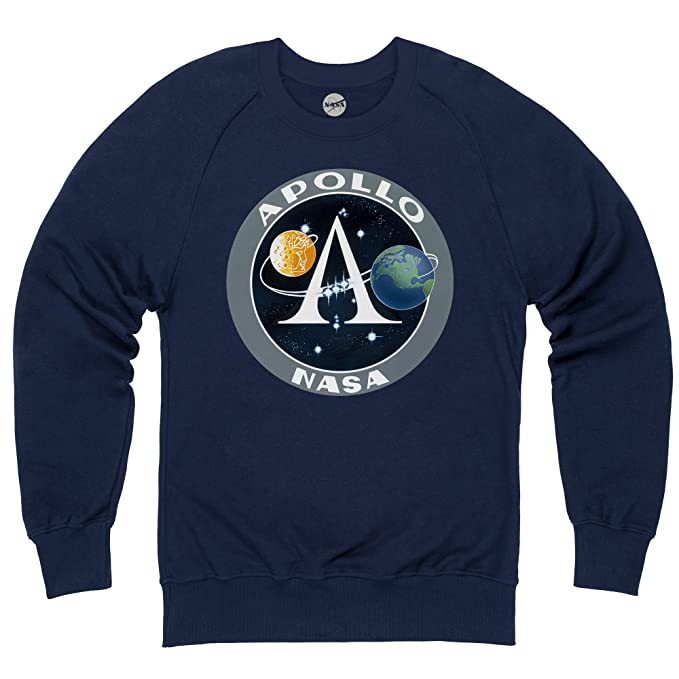 Official NASA Apollo Logo Sudadera de Cuello Redondo, para Hombre: Amazon.es: Ropa y accesorios