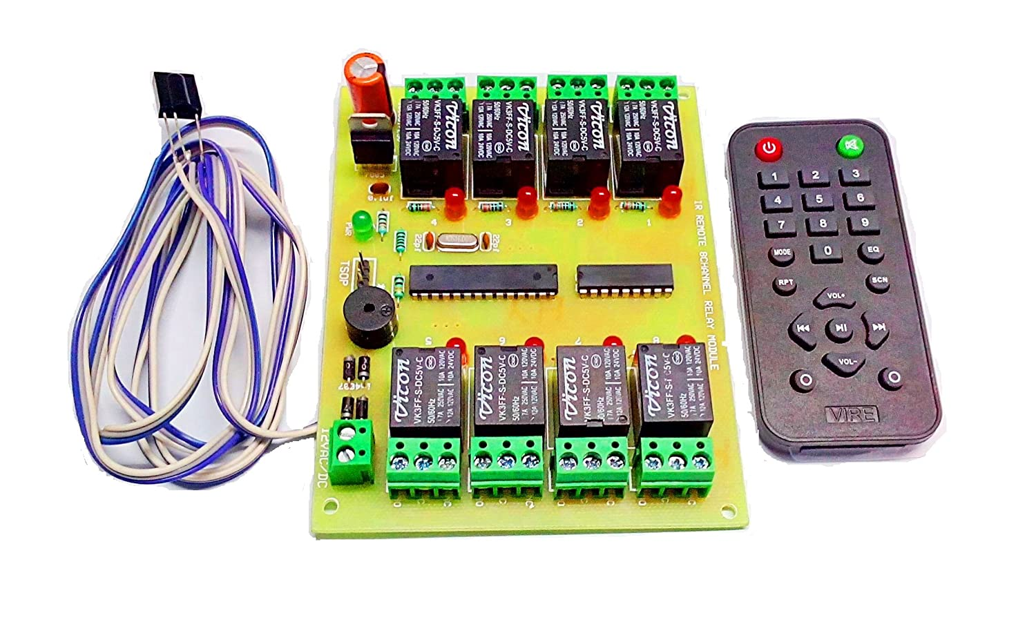 Insignia Labs Wireless Ir 8 Channel Remote Control Relay Board Wiring A Module Light Fan Industrial Scientific