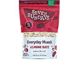 Seven Sundays Everyday Almond Date Muesli Cereal {40oz Eco-Pack, 1 Count} | No Added Sugar