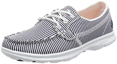 Skechers Women's Go Step-Sandy Boat Shoes, Blue (NVW), 2 UK