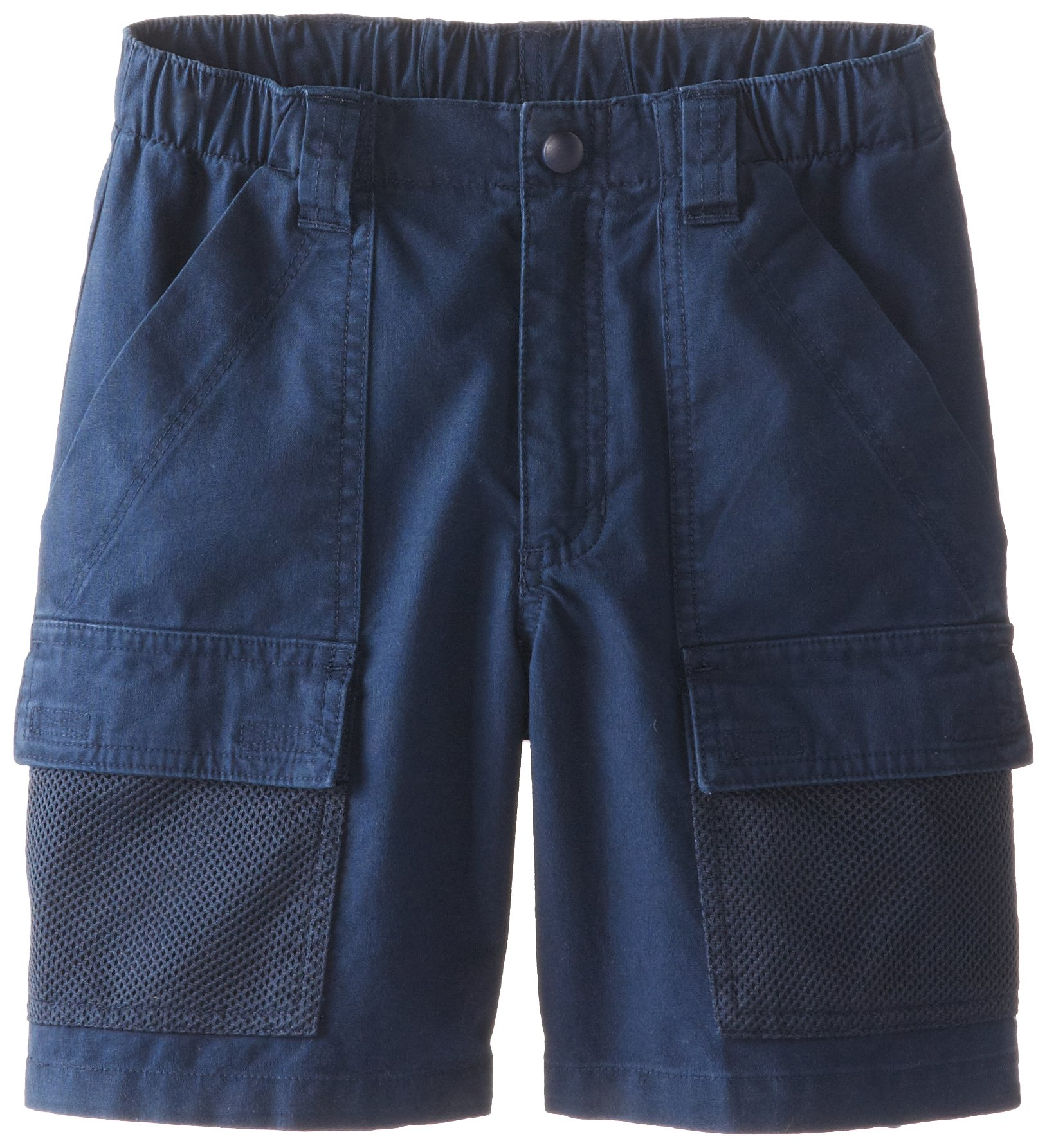 Columbia Youth Boys' Half Moon Short, Breathable, UPF 15 Sun Protection, Collegiate Navy, Small