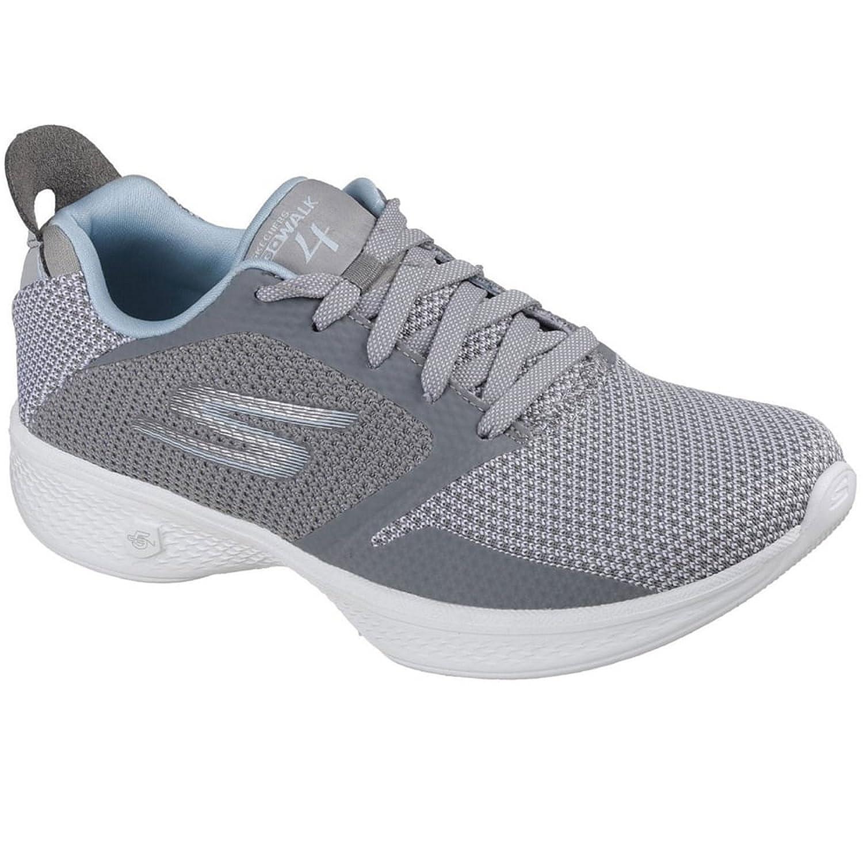 Skechers Womens/Ladies Go Walk 4 Edge Lightweight Breathable Shoes 36.5 EU|Gris
