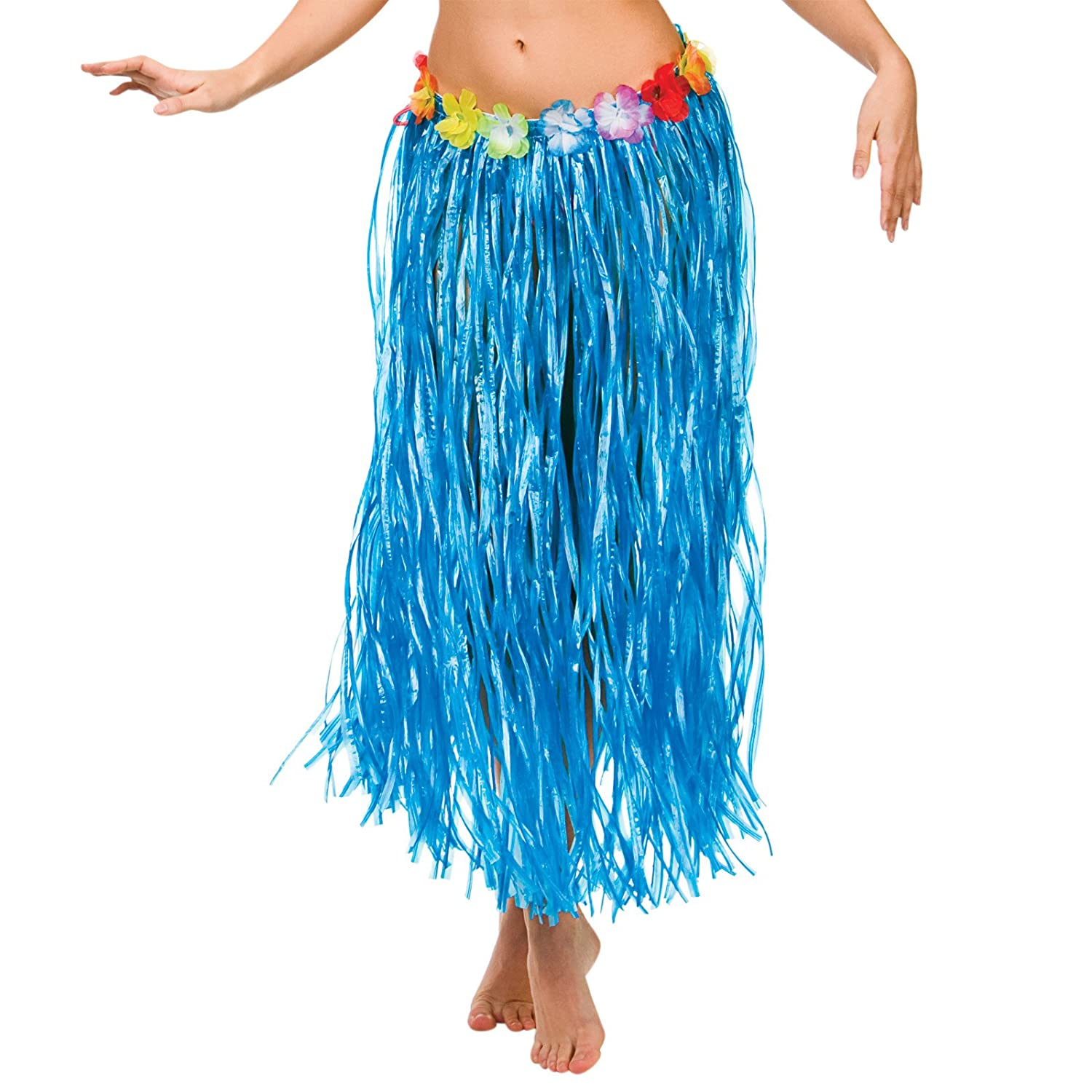 Hawaiian Grass Hula Style Skirt 80cm Long Fancy Dress Luau Summer ...