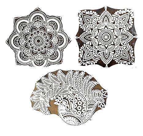 Hashcart Sellos de madera para impresión, estampado y tallado a mano con baren; Diseños