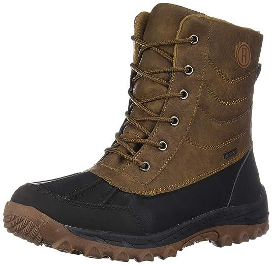758fc73ccf6 Rocky Moose Men's Winter Snow Boots Michigan Waterproof Guaranteed (7,  Brown)