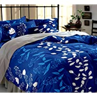 Shop4Indians 5D Large Sized Glace Cotton Double Bed Sheet With 2 Pillow Covers.