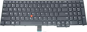 LeFix US Layout Replacement Keyboard Without Backlit Compatible for Lenovo Thinkpad E570 E575 01AX200 SN5357 SN20K93368
