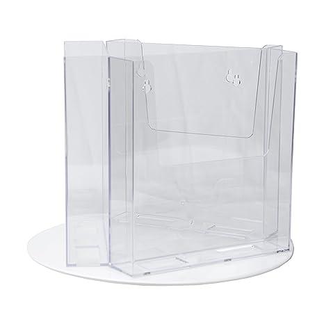 amazon com clear ad rlt 77 3 acrylic rotating bifold brochure
