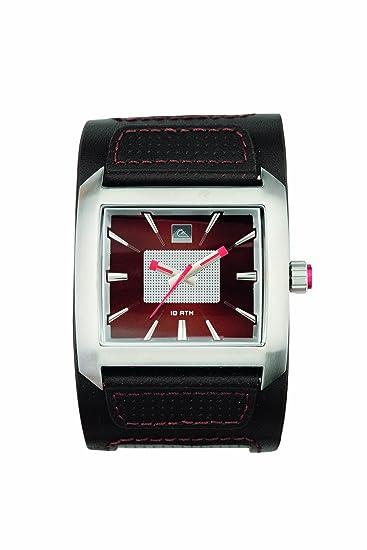 Quiksilver M122BL/ABRN - Reloj de caballero de cuarzo, correa de piel color marrón: Amazon.es: Relojes