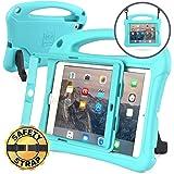Bam Bino Cases RHINO 耐衝撃 ケース【 iPad mini3 / mini2 / mini 】 子供 ショルダーストラップ 画面保護 スタンド 軽量 (ターコイズブルー)