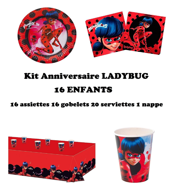 Generique Kit Anniversaire Miraculous Ladybug 10 Personnes Aucun