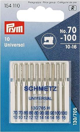 Prym Agujas para máquina de Coser estándar, 154110, 70-100, 130 ...
