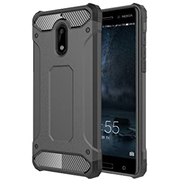 premium selection ce2f9 1f96a AMPLE Case For Nokia 5, NOKIA 5 Case, Rugged Tough Dual Layer Armor Case  NOKIA 5 Protective Case Shockproof Case Cover for NOKIA 5 [Heavy Duty]  [Slim ...