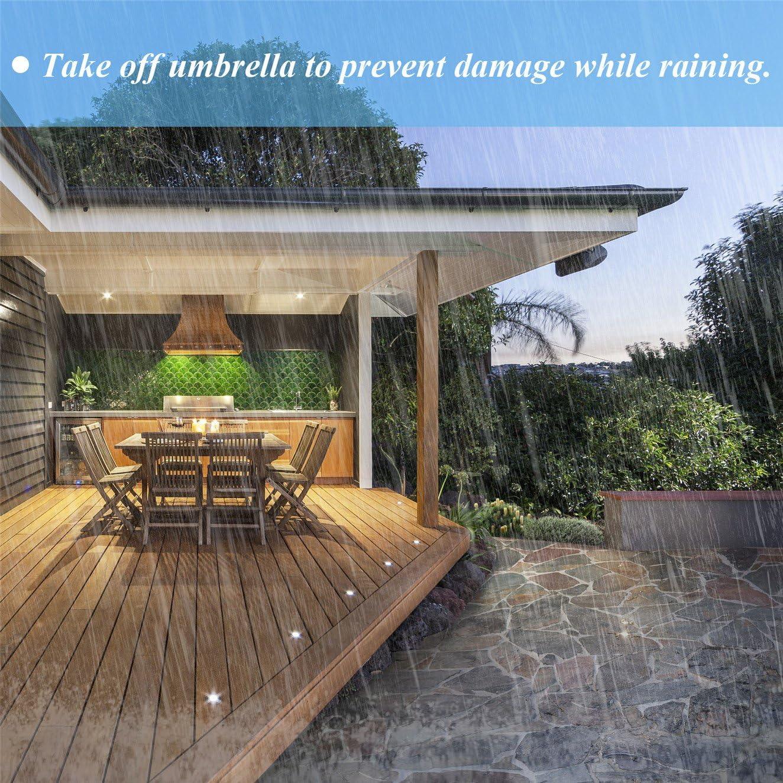 Tee-Moo Cubiertas para sombrillas Compensadas, Cubiertas de Parasol para Patio, para sombrillas Exteriores de 9 a 13 pies con Cremallera Impermeable y Tela Impermeable: Amazon.es: Jardín