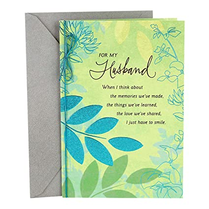 Amazon hallmark romantic fathers day greeting card for hallmark romantic fathers day greeting card for husband sweet and good m4hsunfo