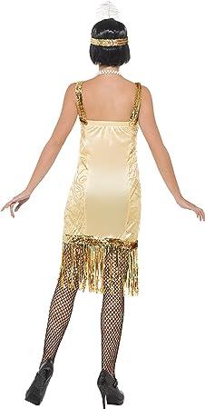 Smiffys - Disfraz de charlestón años 20s para mujer, talla L ...