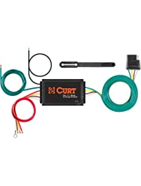 CURT Manufacturing 56146 Powered 3-to-2-Wire Splice-in Trailer Tail Light Converter with 4-Pin Wiring Harness