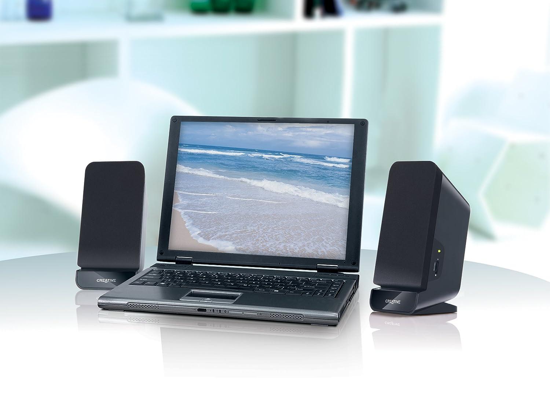 Creative Labs A60 - Altavoces de ordenador (75 dB, 90-20000 Hz), negro 51MF1635AA000