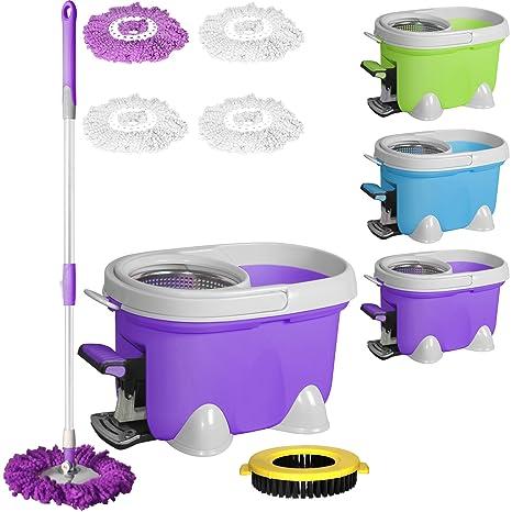 Enya Easy Mop - Juego de fregona mágica giratoria de 360°, para limpieza del