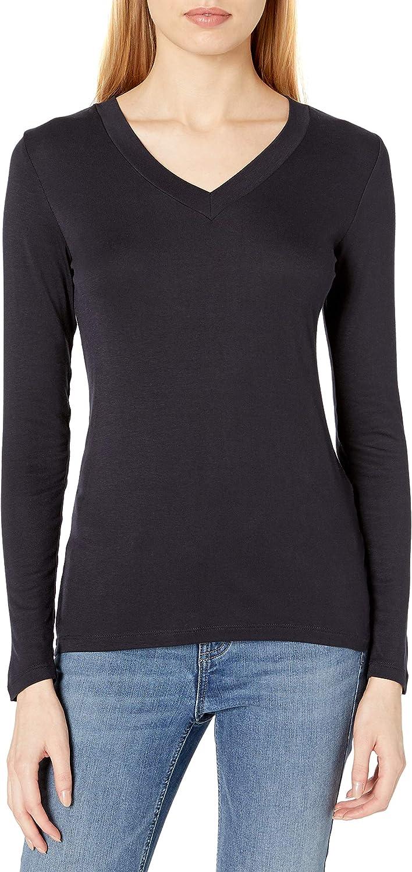 Amazon Brand - Daily Ritual Women's Fluid Knit Long-Sleeve V-Neck Shirt
