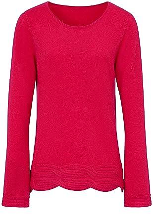 professionelle Website neueste berühmte Designermarke Laura Biagiotti Donna Damen Rundhals-Pullover Kunstvoller ...