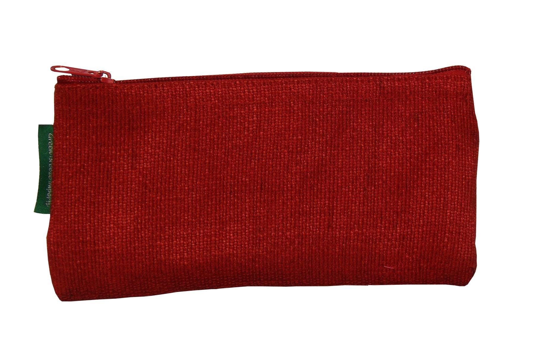 Green Breeze Imports Red Handmade Abaca Eyeglass Case
