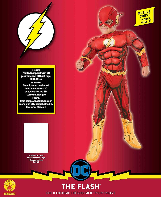 Rubies Costume DC Superheroes Flash Deluxe Child Costume, Medium