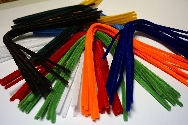 chenilla alambre/ /Sparset/ /Peluche/ /Nuevo 8/mm de di/ámetro 50/cm de largo 90/unidades en 9/Colores /Limpiapipas de/