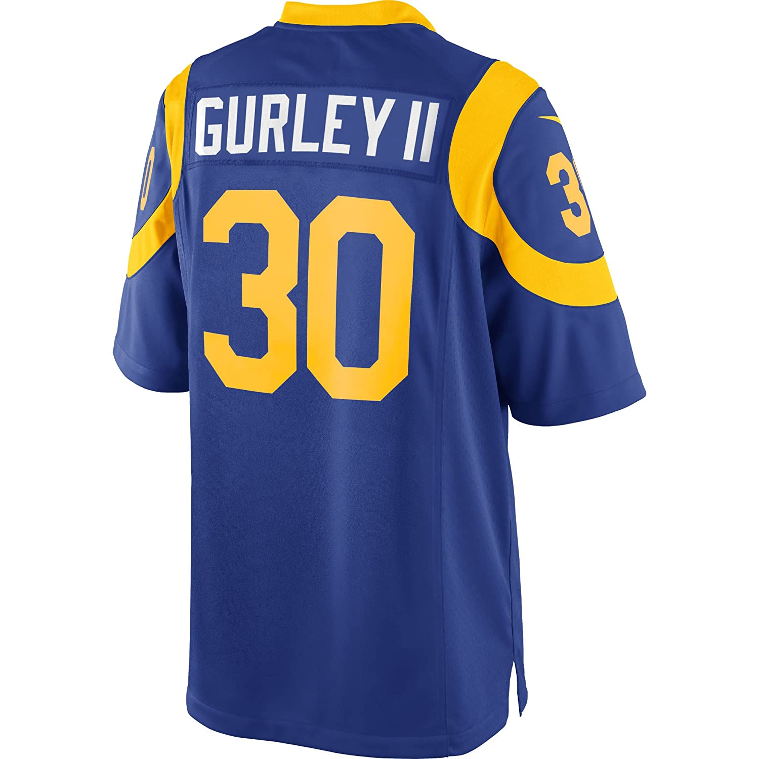 94d3f987 Amazon.com: Nike Youth Kids Medium (10-12) Todd Gurley II Los Angeles Rams  Throwback Alternate Game Jersey - Royal Blue: Clothing