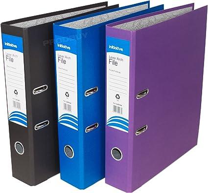 Pack de 3] tamaño folio de archivadores de palanca 75 mm papel ...
