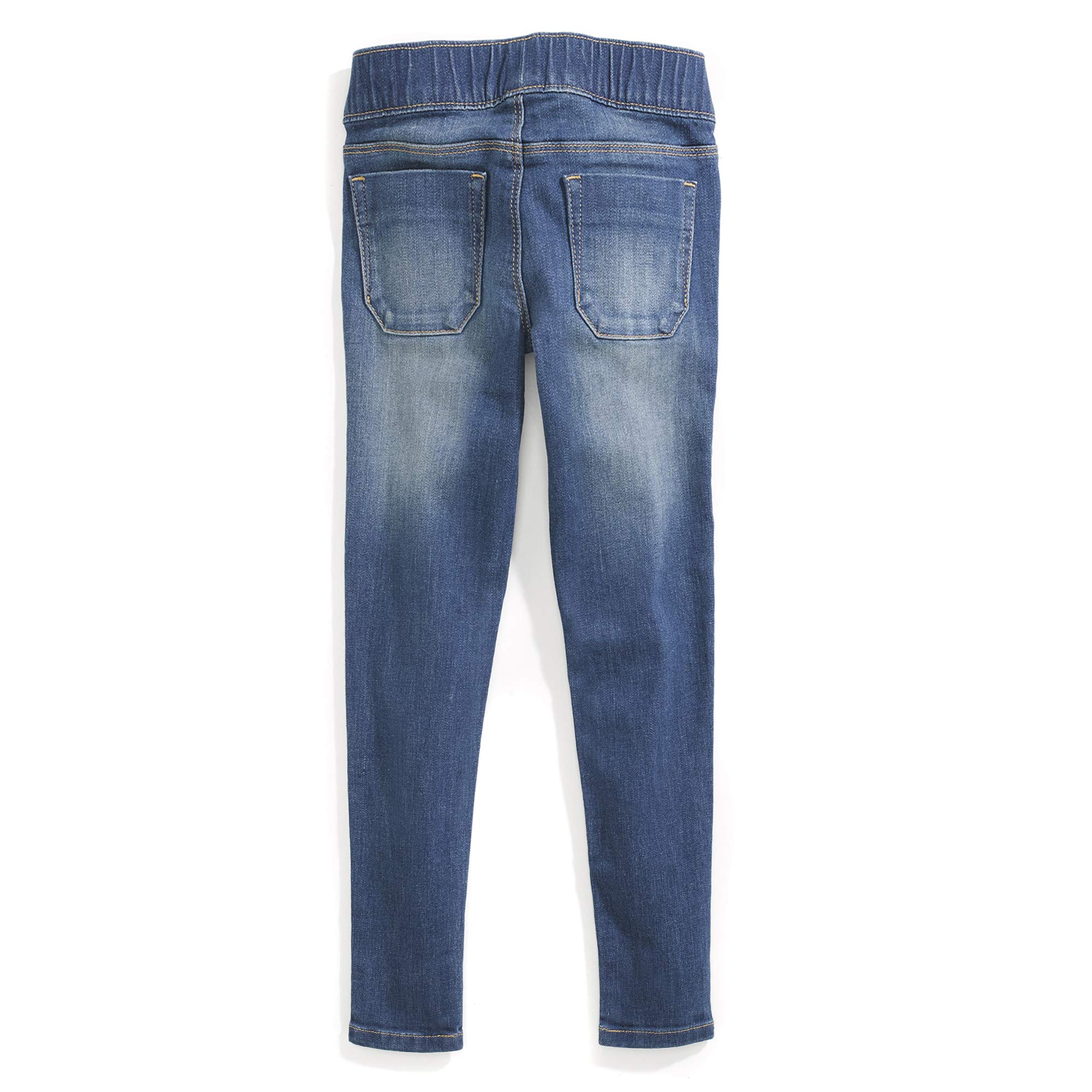 Tommy Hilfiger Girls' Adaptive Jegging Jeans with Elastic Waist and Adjustable Hems, KEITH wash 10 by Tommy Hilfiger (Image #4)
