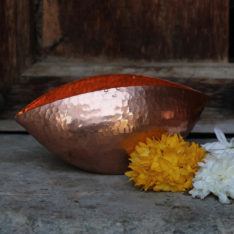 cm photophores pour bougies 4,75/* 2,5/* 2/Dimensions 100/% pur cuivre Trinetra De Kulture Fonctionne Porte-bougie en cuivre Bougie chauffe-plat