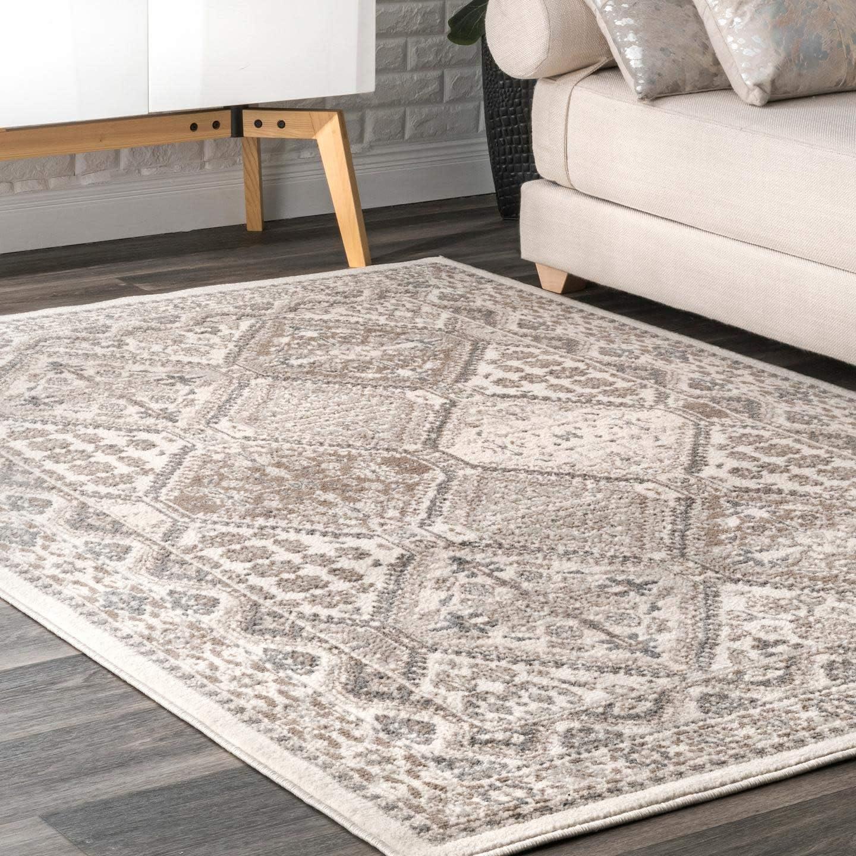 nuLOOM Becca Vintage Tile Area Rug, 9' x 12', Beige