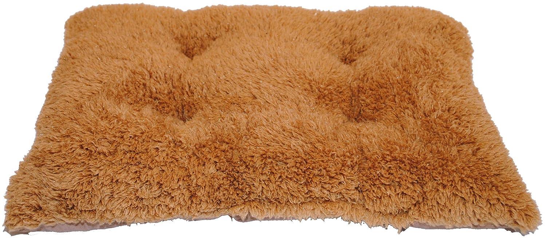 Brinkmann Pet 16-Inch by 22-Inch Faux Fur Tufted Kennel Pad, Tan