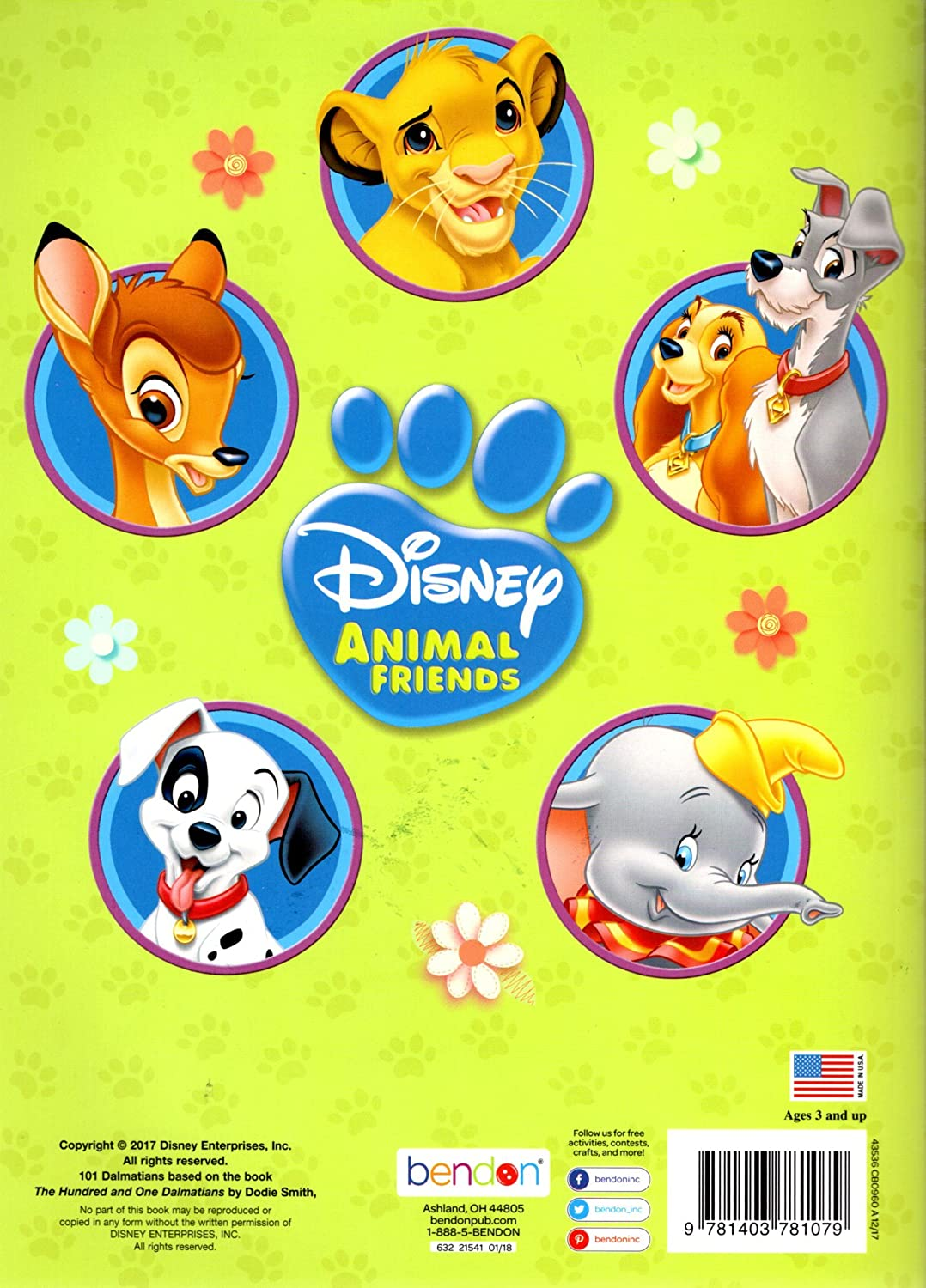 Disney Animal Friends Big Fun Book to Color Playtime with Pals Bendon