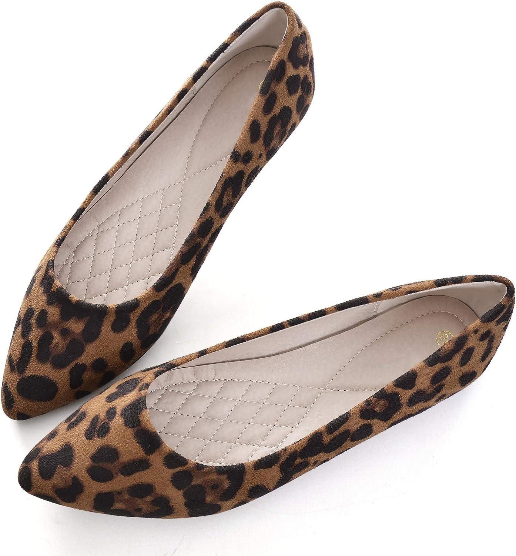 animal print pointed toe flats