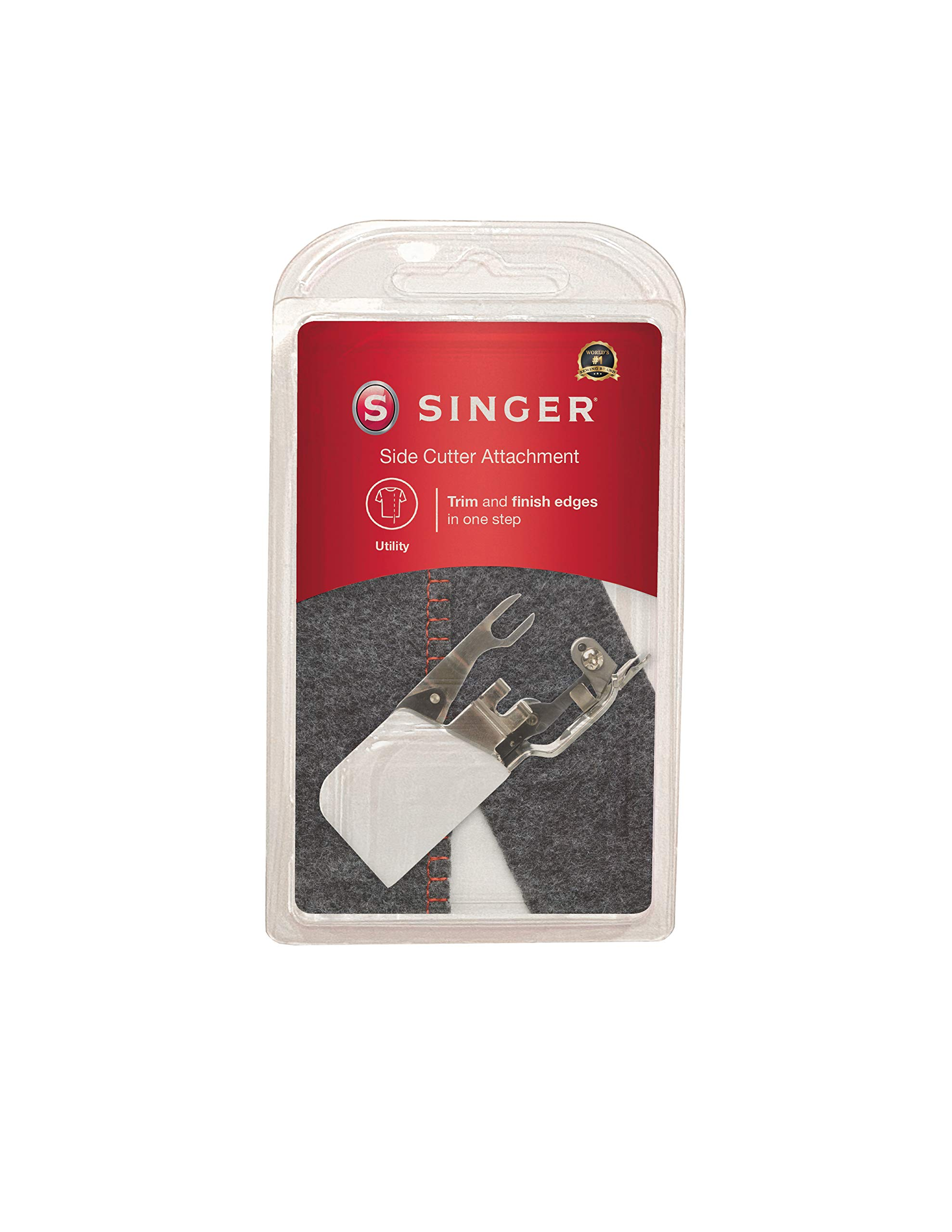 SINGER | Side Cutter Attachment Presser Foot, Simutaneously Trims & Hems Edges, Zig-Zag or Overstitch - Sewing Made Easy