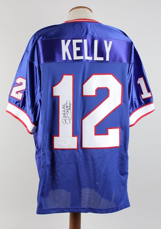 04e163c0d Amazon.com: Signed Jim Kelly Jersey - -- & Inscribed HOF 02 Blue -- COA -  JSA Certified - Autographed NFL Jerseys: Sports Collectibles