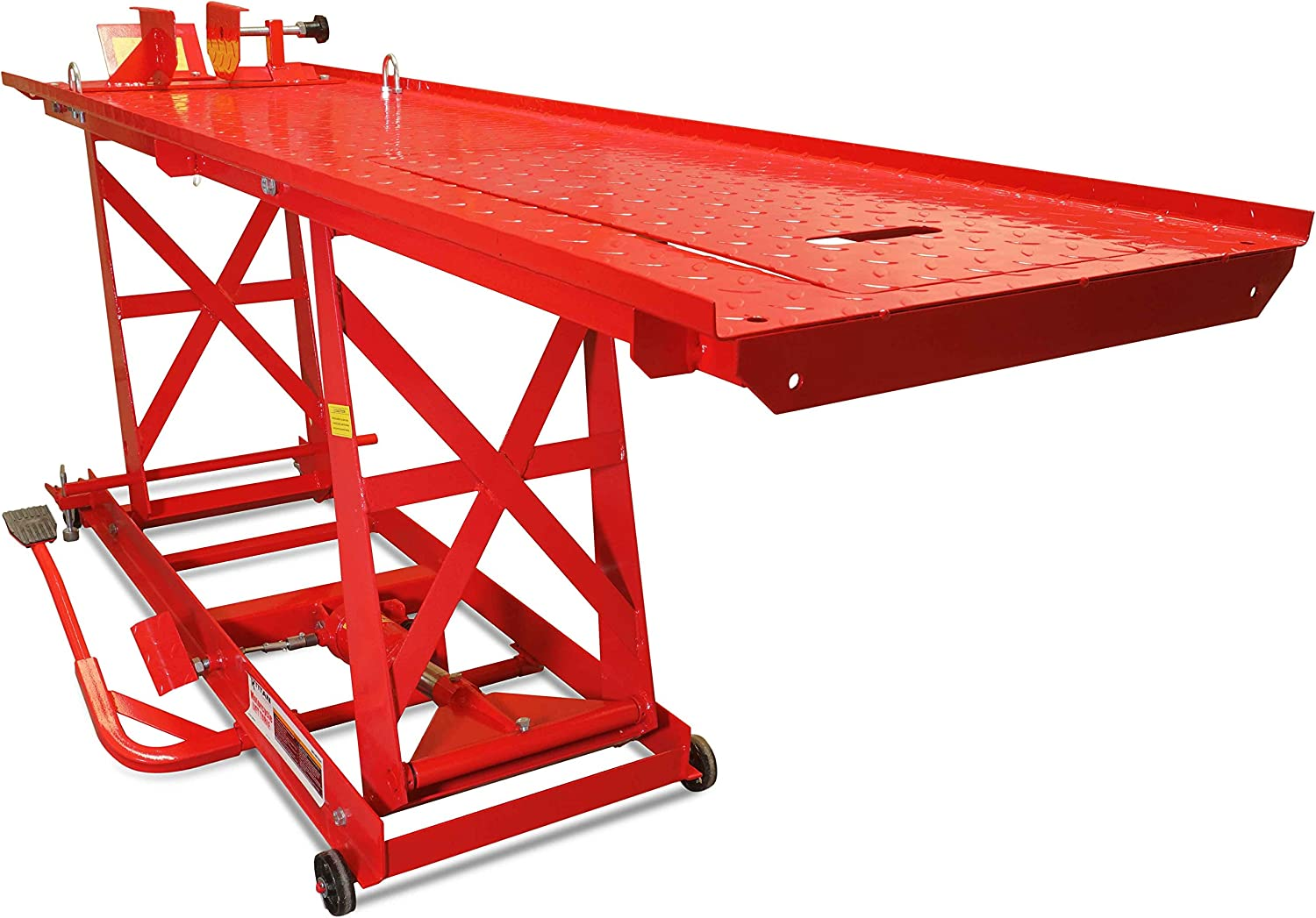 Titan Ramps Hydraulic Motorcycle Lift for Mechanics, Workshops, and Homes