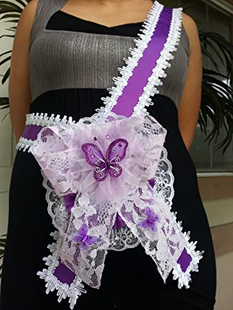 Amazon Baby Shower Mom To Be Its A Girl Sash Purple With