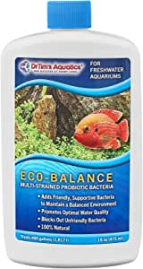 DrTim's Aquatics Freshwater Aquarium Products, 100% Natural Eco-Friendly Fish Tank Cleaner, Clarifies Water, Removes Toxin, Hidden Waste, Reduces Organics, Blocks Bacteria and Optimizes Water Quality