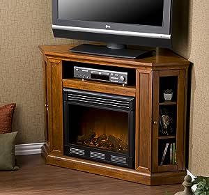 Holly & Martin Ponoma Convertible Media Electric Fireplace in Mahogany