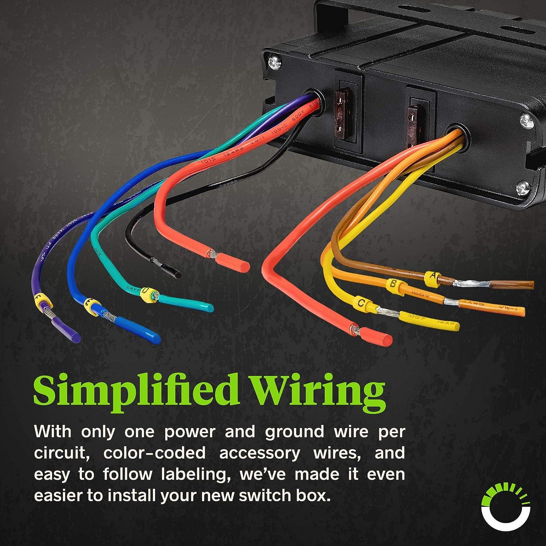 Strange Amazon Com 80 Amp On Off Switch Box 20A Rocker Switches Led Wiring Cloud Intapioscosaoduqqnet