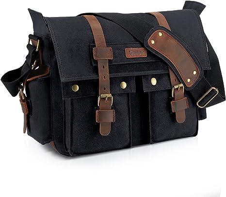 Men/'s Fashion Canvas Solid Briefcase Totes Business Shoulder Bag Messenger Bags