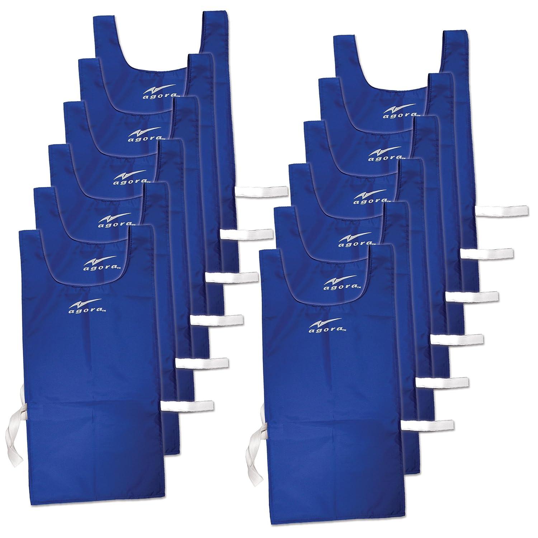 アゴラナイロンエプロンドレスwith Velcro – 12のセット B00MFW0NYEブルー
