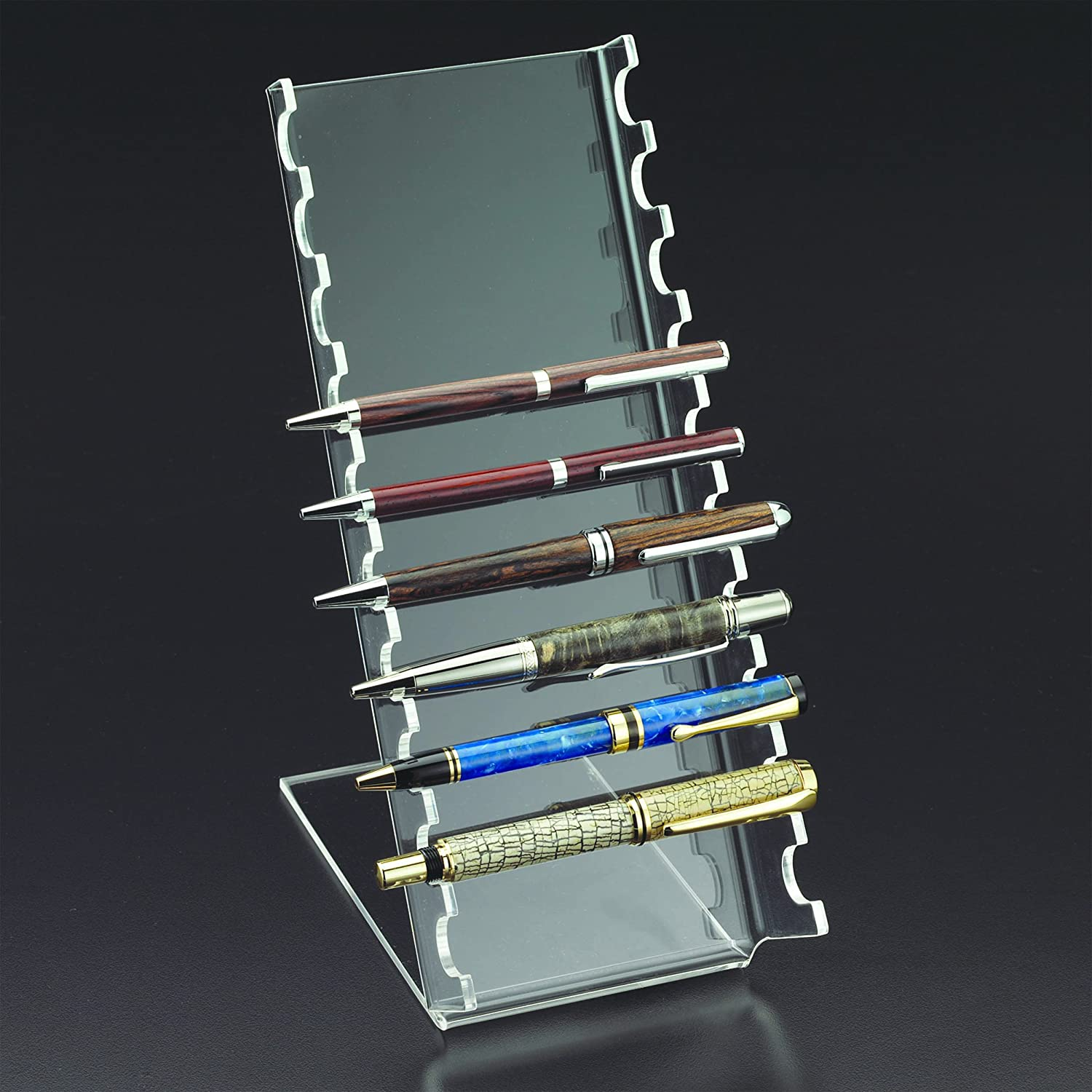 5 Premium 8 Pen Display Holder Easel Stand for Fountain Pens Pencils