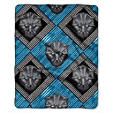 Panther Marvel Black Throw Pillow Cushion + Blanket