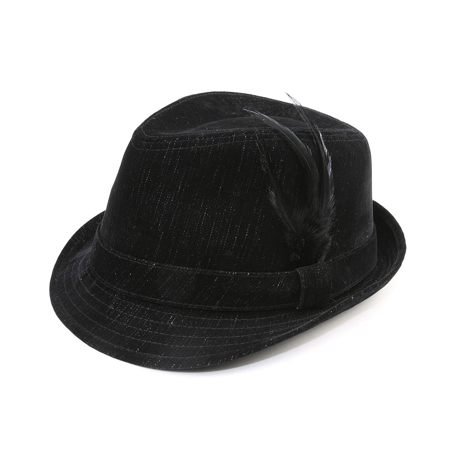 Infinity Selections Polyester Denim Fedora Hat-8948