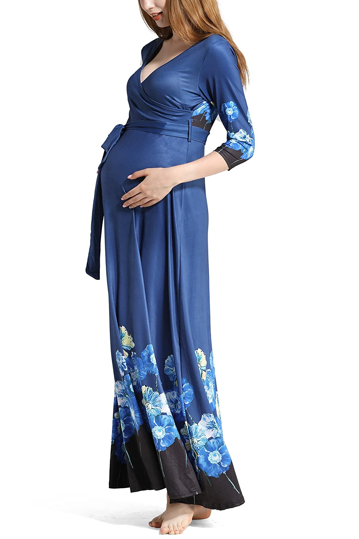 K-youth Vestidos Largos Embarazada Fiesta Vestidos Embarazada Fotografia Vestido para Mujeres Embarazadas Vestidos De Maternidad para Fiesta Cestidos de Boda Mujer Largos